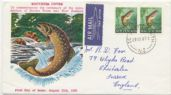 29/08/1967 NZ FDC 1967 Pictorial Definitive 7½c Brown Trout (NFD/1224)